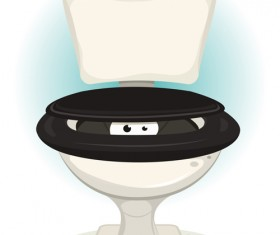 Vector toilet design elements set 05