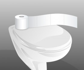 Vector toilet design elements set 07