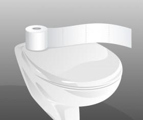 Vector toilet design elements set 07