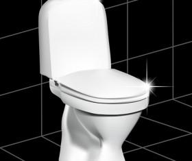 Vector toilet design elements set 08