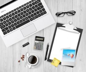 Work desktop template design vector 02