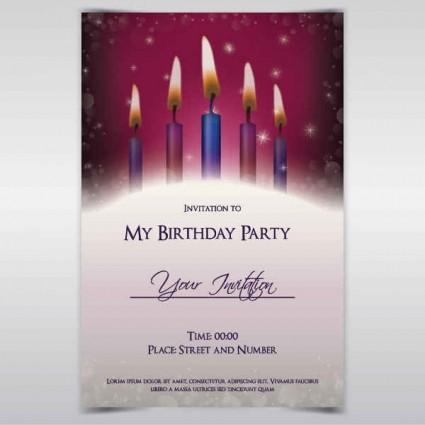 Exquisite birthday invitations card vector vector birthday exquisite birthday invitations card vector stopboris Choice Image