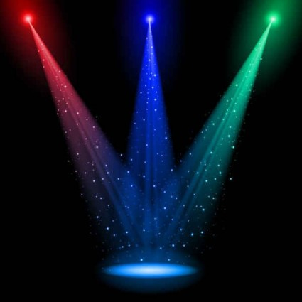 Brilliant stage lighting backgrounds vector