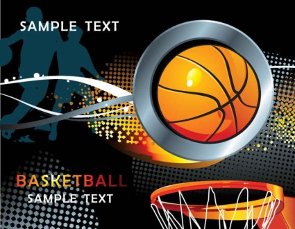 Basketball element background vector design
