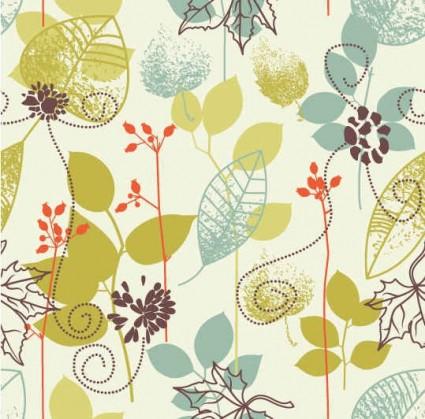 Floral design element background vector material