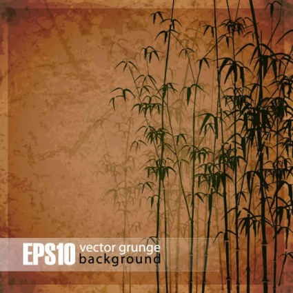 Vintage bamboo forest background vector 01