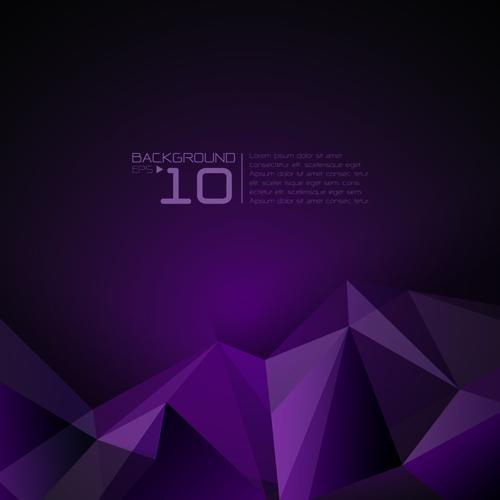 3D polygonal modern background vector 04