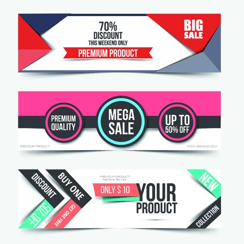 Big Sale Business Web Banners Vectors 02 Vector Banner