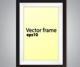 Black border photo frame vector set 04