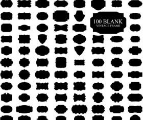 Blank vintage frame labels vector