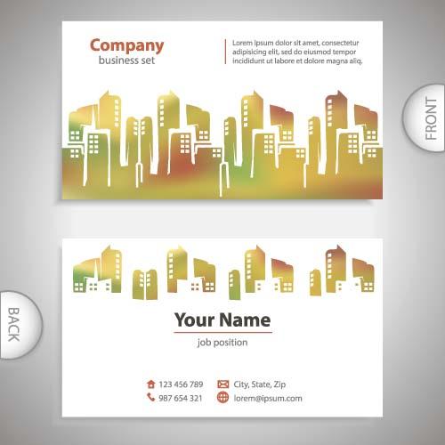 Building Company Business Card Vectors