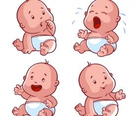 Cartoon baby cute design vector 01