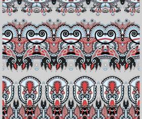Cartoon ornament floral vector seamless borders 05