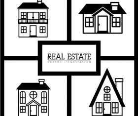 Creative real estate illustration vectors 03