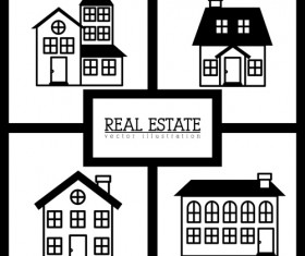Creative real estate illustration vectors 04