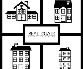 Creative real estate illustration vectors 05