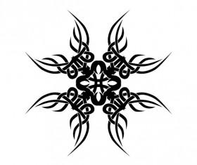Creative tattoo ornament material vector 01