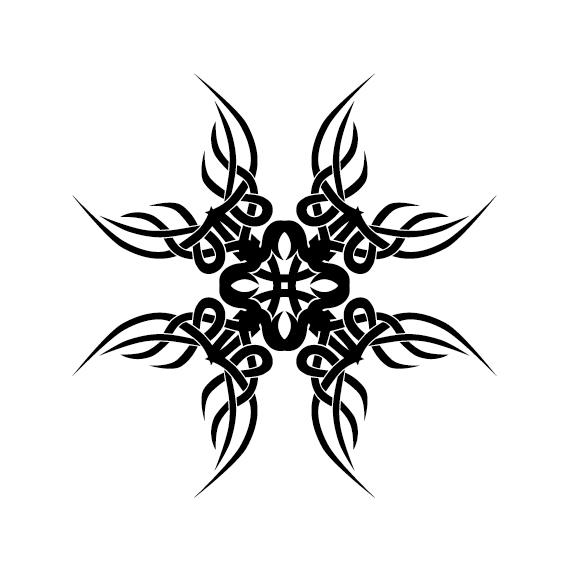 Creative tattoo ornament material vector 01
