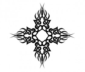 Creative tattoo ornament material vector 04