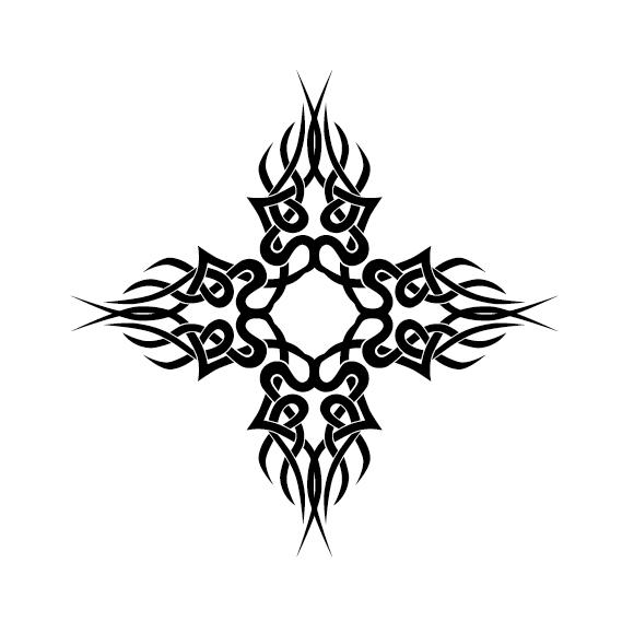 Creative tattoo ornament material vector 04