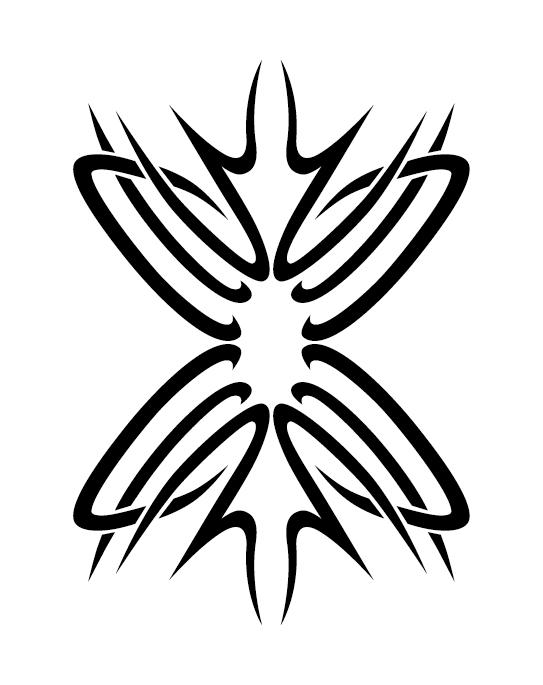 Creative tattoo ornament material vector 05