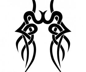 Creative tattoo ornament material vector 07