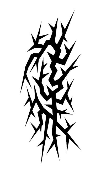 Creative tattoo ornament material vector 08