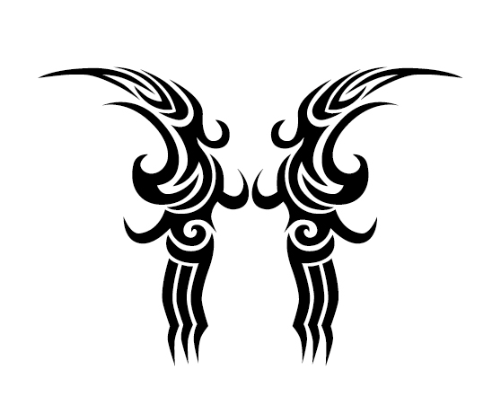 Creative tattoo ornament material vector 09