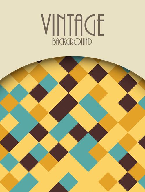 Cute Vintage Background Vectors Design 09