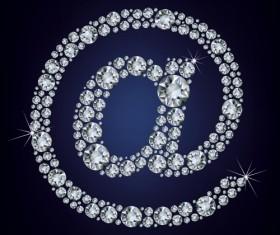 Diamonds @ symbol vector material