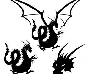 Dragon tattoo element vector material