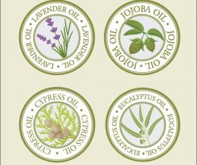 Edible Oil labels creative vector