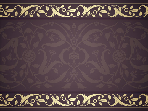 elegant ornament floral borders seamless vector 02