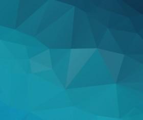 Embossment triangular blue background vector 01
