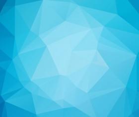 Embossment triangular blue background vector 02