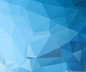 Embossment triangular blue background vector 03