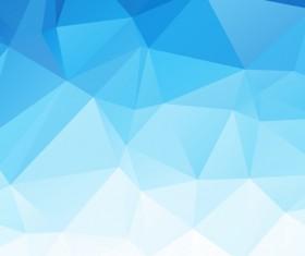 Embossment triangular blue background vector 04