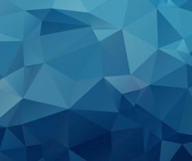 Embossment triangular blue background vector 05