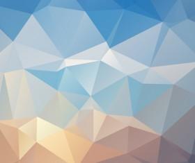 Embossment triangular blue background vector 06