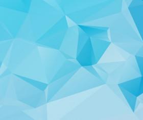 Embossment triangular blue background vector 07