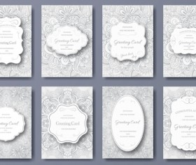Exquisite greeting card design elements vector 04
