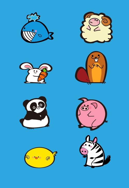Funny Animals Cartoon Design Vectors Free Download