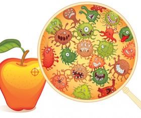 Funny bacteria cartoon styles vector 04