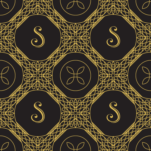 Gold lineart seamless pattern luxury vector 03
