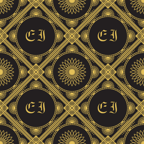 Gold lineart seamless pattern luxury vector 05