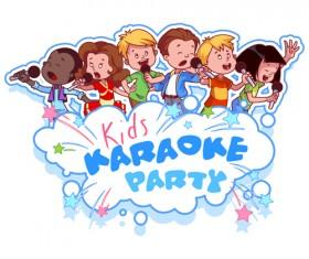 Lovely kids children cartoon graphics vector set 19