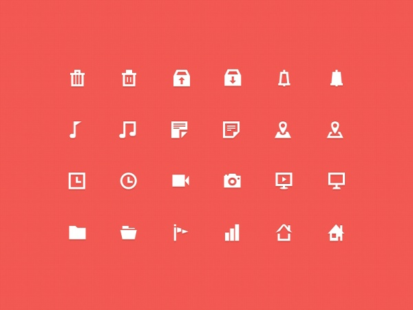Mini music with app icons set