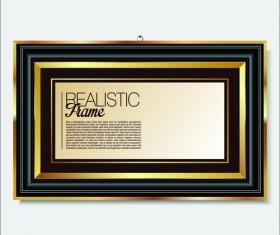 Modern photo frame shiny vector set 03