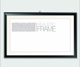 Modern photo frame shiny vector set 04