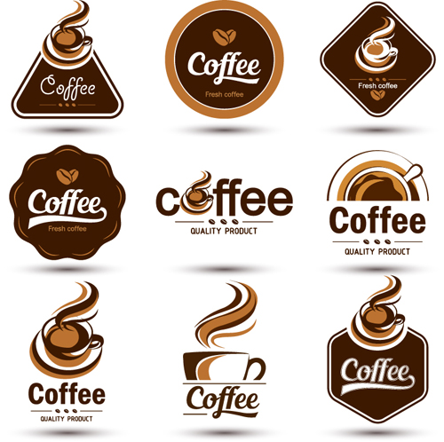 Original Design Coffee Labels Vector Material 03 Vector